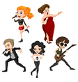 Talented singers vector