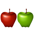 A green and a red apple vector