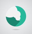 Logo speech bubbles in flat design long shadow vector