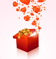 Valentines day gift box vector