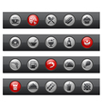 Food 2 buttons vector
