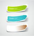 Colorful label paper brush stroke vector