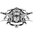Crossed swords and helmet vector