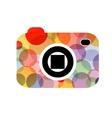 Abstract digital camera logo vector
