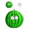 Green cartoon watermelon vector