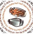 Indian musical instruments - dholak and mridanga vector
