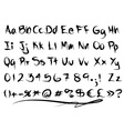 Freaky font alphabet vector