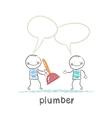 Plumber says customer vector