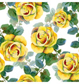 Seamless background with yellow roses vector