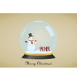 Christmas snow globe vector