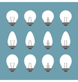Light bulbs and bulb icon set vector