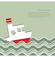 Cruise ship in the ocean vector