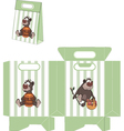 A brown bear packages pattern vector