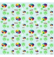 Palm trees umbrellas seamless pattern vector