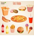 Fast food set vector