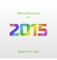 Creative 2015 happy new year greeting card vector