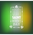 Greeting card for saint patricks day on blurred vector