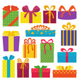 Set of gifts vector