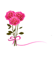 Holiday background with rose and a bow vector