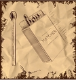 Matches box isolated on vintage background vector