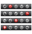 Sports buttons vector