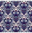 Damask seamless pattern blue vector