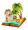 Summer open book vector