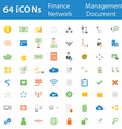64icon business finance network document vector