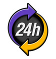 24 hours sign vector