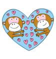 Valentine monkeys vector