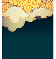Cartoon style clouds background vector