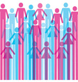 Colorful man and woman icon background vector