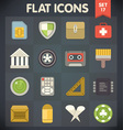 Universal flat icons for applications set 17 vector