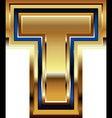 Golden font letter t vector