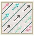 Road arrows set vector
