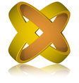 Crossed rings impossible figure icon sign vector