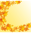 Nature autumn background with leaf fall vector
