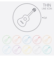 Acoustic guitar sign icon music symbol vector