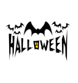 Halloween with bats vector