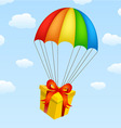 Gifts on parachutes vector