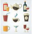 Drinks in flat style vector