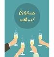 Celebrating poster vector