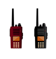 Walkie talkie and police radio or radio vector