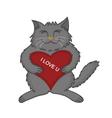 Kitten love vector