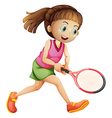 A female tennis player vector