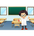 Scientist in classroom vector
