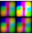 Set abstract spectrum dark background colored vector