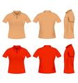 Men polo t shirts vector