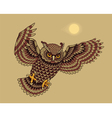 Flying owl bird vector