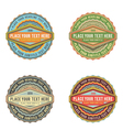 Set of retro vintage style logo banner label vector